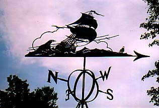 Man of War weather vane